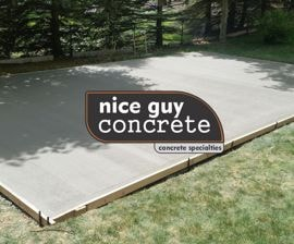 big hockey basketball concrete pad