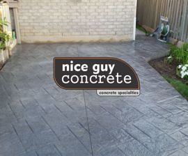 stamped pattern concrete patio